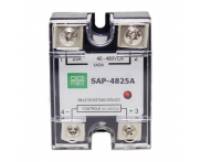 Rele Estado Sólido 90-280VCA 25A SAP-4825A Digimec