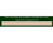 Eletrofita 2 Pistas 750V 10A 1,0mm²  (Por Metro) Eletrofitas