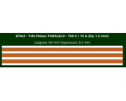 Eletrofita 3 Pistas 750V 15A 1,5mm²  (Por Metro) Eletrofitas