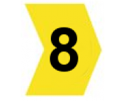 Pacote C/ 100 Anilhas (Nº8) HellermannTyton