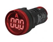 Indicador Digital Amperímetro Vermelho A20-3R 22mm Metaltex