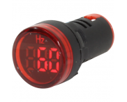 Indicador Digital Frequencímetro Vermelho F20-3R 22mm Metaltex