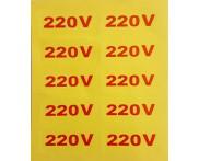 Etiqueta Adesiva Indicador de Tensão 220V