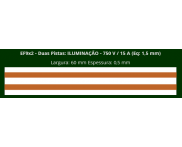 Eletrofita 2 Pistas 750V 15A 1,5mm²  (Por Metro)