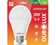 Lâmpada SuperLED Alta Potência 30W 6500K Ourolux