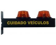 Sinalizador de Garagem Sequencial Sonoro e LED Bivolt TKN